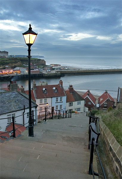 Whitby Steps Canvas print by Simon Marshall