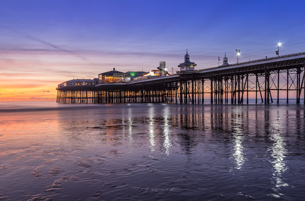 Blackpool North Pier at sunset Canvas print by Katie McGuinness