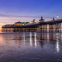 Buy canvas prints of Blackpool North Pier at sunset by Katie McGuinness