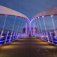 Buy canvas prints of Lowry Bridge, Salford Quays by Katie McGuinness