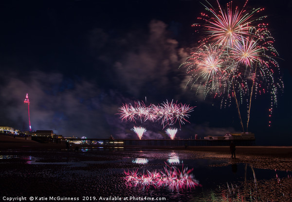 World Firework Championships, Blackpool 2019 Canvas print by Katie McGuinness