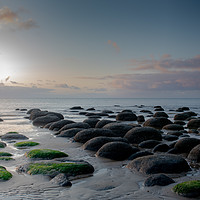 Buy canvas prints of Sunset at Hunstanton Beach by Robbie Spencer