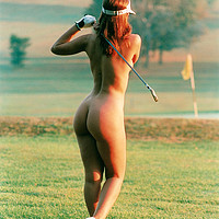 Buy canvas prints of Nude Golfer. by Don Barrett