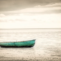 Buy canvas prints of Lonely boat by Donna Joyce