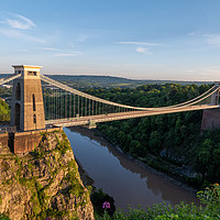 Buy canvas prints of Summer Evening Bristol Clifton Suspension Bridge by Neil William-Carter
