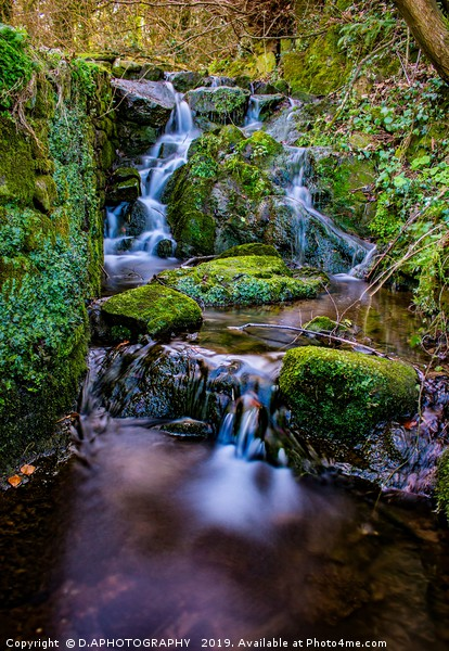 water fall Framed Mounted Print by D.APHOTOGRAPHY