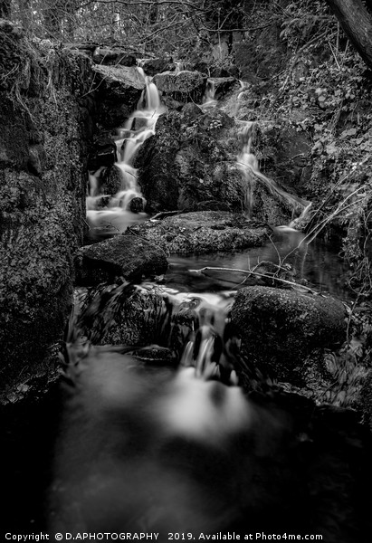 Hails water fall Framed Mounted Print by D.APHOTOGRAPHY