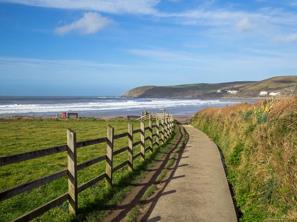 Pathway to Croyde Beach in North Devon Canvas Print by Tony Twyman