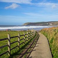 Buy canvas prints of Pathway to Croyde Beach in North Devon by Tony Twyman