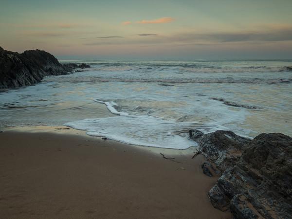 Croyde beach sunrise in North Devon Canvas Print by Tony Twyman