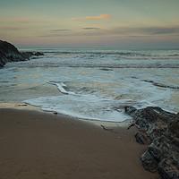 Buy canvas prints of Croyde beach sunrise in North Devon by Tony Twyman