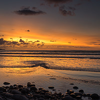 Buy canvas prints of Sunset view as the Tide rolls in at Westward Ho! by Tony Twyman