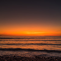 Buy canvas prints of Sunset therapy at Westward Ho in North Devon by Tony Twyman