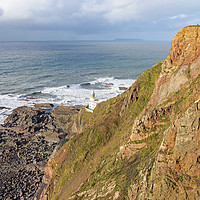 Buy canvas prints of Hartland Point Lighthouse by Tony Twyman