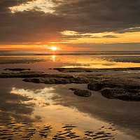 Buy canvas prints of Moody sunset after the rain by Tony Twyman