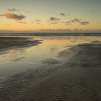 Buy canvas prints of Sunset reflections at Westward Ho! by Tony Twyman