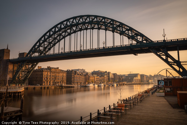 Tyne Bridge Early Morning Canvas print by Tyne Tees Photography