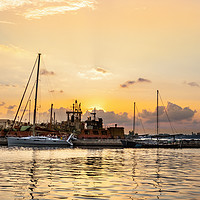 Buy canvas prints of View of the Port of Galle at sunset. by RUBEN RAMOS