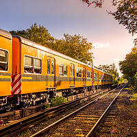 Buy canvas prints of Electric train in Buenos Aires, Argentina. by RUBEN RAMOS