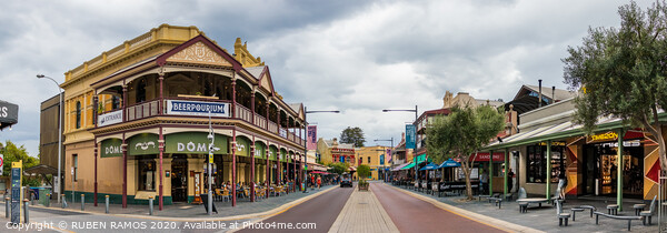 The South Terrace street at the city center of Fremantle, Australia. Canvas Print by RUBEN RAMOS