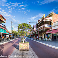 Buy canvas prints of The South Terrace street at the city center of Fremantle, Australia. by RUBEN RAMOS