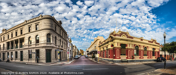 Fremantle city center, Australia.  Print by RUBEN RAMOS