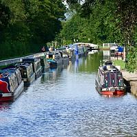Buy canvas prints of Narrowboats at Fradley Junction by Tony Williams