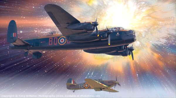 Lancaster Bomber Framed Print by Tony Williams. Photography