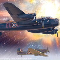 Buy canvas prints of Lancaster Bomber by Tony Williams. Photography