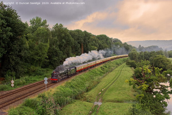 Mainline steam returns with 46100 'Royal Scot' Canvas Print by Duncan Savidge