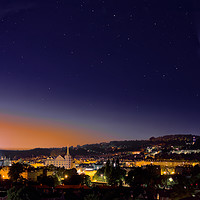 Buy canvas prints of Comet Neowise seen across the City of Bath landsca by Duncan Savidge