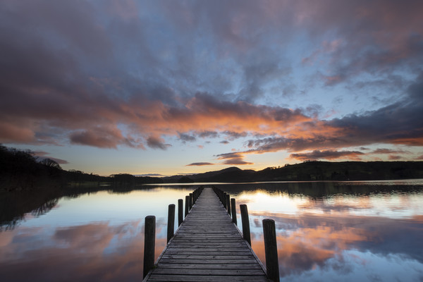 Rigg Wood Jetty sunset. Canvas print by Michael Tonge