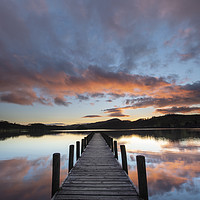 Buy canvas prints of Rigg Wood Jetty sunset. by Michael Tonge