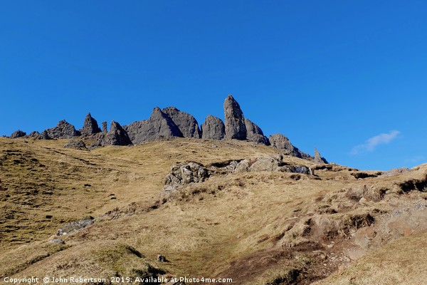 The Old Man of Storr, Isle of Skye, Scotland Canvas print by John Robertson