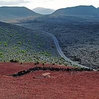 Buy canvas prints of Lanzarote landscape                                by John Robertson
