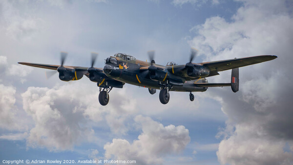 Lancaster at Biggin Hill in 2018 Canvas Print by Adrian Rowley