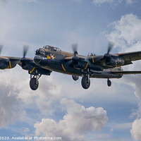 Buy canvas prints of Lancaster at Biggin Hill in 2018 by Adrian Rowley