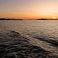 Buy canvas prints of Rose Gold Sunset over Gulf of Finland by Taina Sohlman