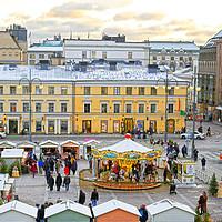 Buy canvas prints of Christmas Market  by Taina Sohlman
