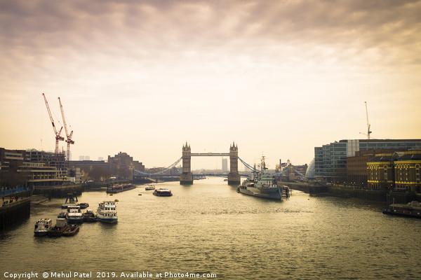 Tower Bridge in London at dusk Canvas print by Mehul Patel