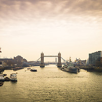 Buy canvas prints of Tower Bridge in London at dusk by Mehul Patel