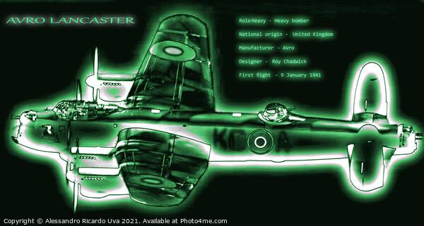 Avro Lancaster Bomber Framed Print by Alessandro Ricardo Uva