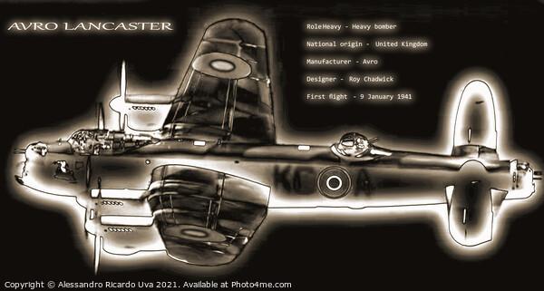 Lancaster Framed Print by Alessandro Ricardo Uva