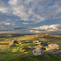 Buy canvas prints of View from Rippon Tor to Haytor by Richard Garvey-William