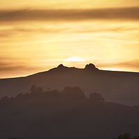 Buy canvas prints of Sunset over Haytor by Richard GarveyWilliams