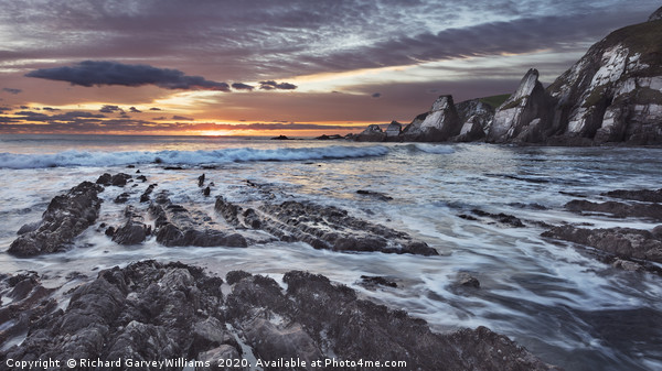 Westcombe Bay Sunset Canvas print by Richard GarveyWilliams