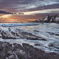 Buy canvas prints of Westcombe Bay Sunset by Richard GarveyWilliams