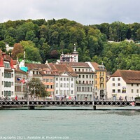 Buy canvas prints of  Lucerne in a beautiful summer day in Switzerland by M. J. Photography