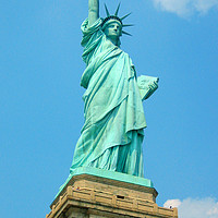 Buy canvas prints of The Statue of Liberty - colossal neoclassical scul by M. J. Photography
