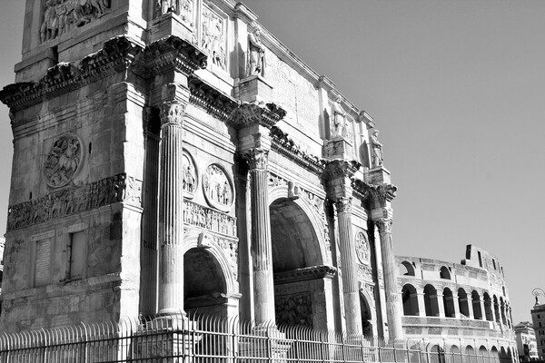 Arch of Constantine, (AD 312), one of three surviv Print by M. J. Photography